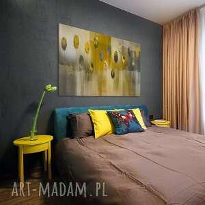 kolory obrazy żółte obraz na płótnie - abstrakcja żółty
