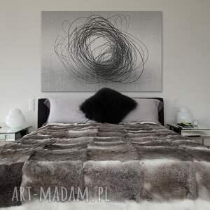 czarne obrazy abstrakcja obraz na płótnie -