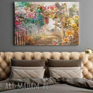 ogród obraz na płótnie - kwiaty