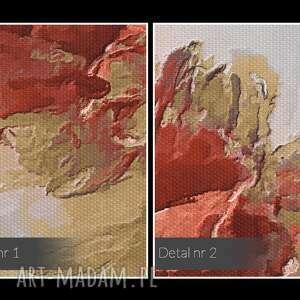 VAKU DSGN obraz na płótnie - kwiat czerwony - 50x70 cm (02003) artstyczny