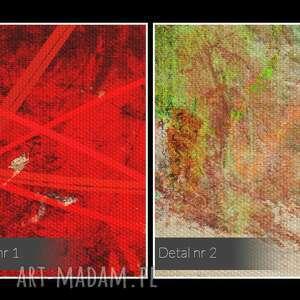obraz na płótnie - abstrakcja czerwony - 120x80 cm (74801) artystyczny