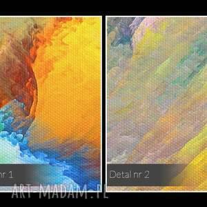 wyraziste nowoczesny obraz na płótnie - kolory