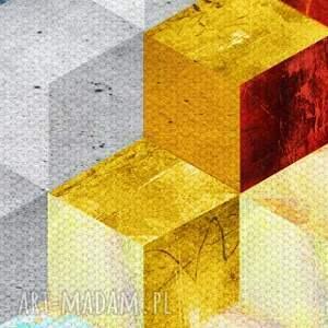unikalne sześciany obraz na płotnie - 150x60cm