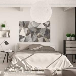 szare beton obraz na płótnie - trójkąty