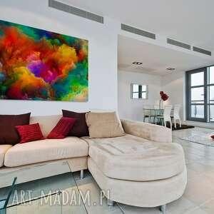 urokliwe chmury obraz na płótnie - kolorowe