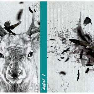 niepowtarzalne obraz na płótnie 120x80 - jeleń w