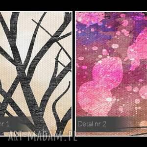 nietypowe obrazy kolory obraz na płótnie - drzewo kolorowy