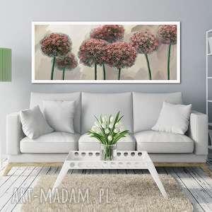 Obraz na płótnie 120x50 - Kwiaty czosnku 0326 wysyłka w 24h czosnek