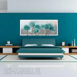zielone natura obraz na płótnie 120x50 - czosnek