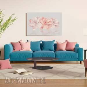 kwiaty obrazy różowe obraz na płótnie - różowy 3d