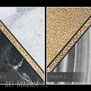VAKU DSGN obraz na płótnie - marmur geometryczny złoto - 120x80 cm (96401) - art dekoracja