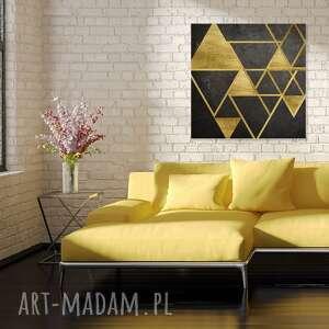 dekoracja obraz na płótnie - trójkąty