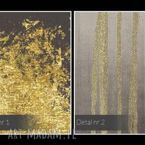 dekoracja obraz na płótnie - abstrakcja złoty
