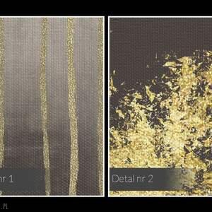 urokliwe obrazy dekoracja obraz na płótnie - abstrakcja złoty