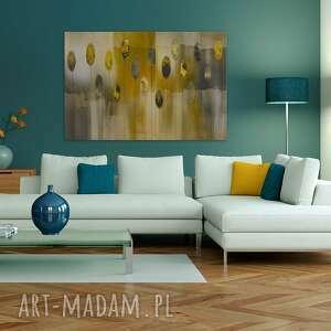 beżowe obrazy dekoracja obraz na płótnie - abstrakcja żółty