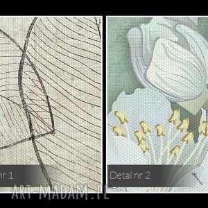 deski obraz na płótnie - kwiaty zielony