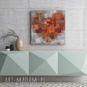 obraz do salonu na płótnie - serce abstrakcja