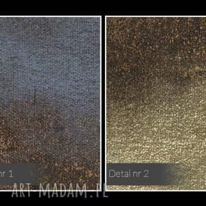 intrygujące obraz do salonu na płótnie - abstrakcja złoty