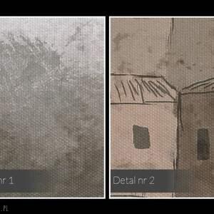 nietypowe domki obraz na płótnie - domy osada