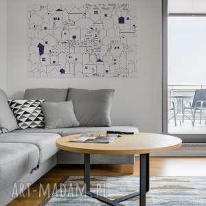 wyraziste obrazy domki obraz na płótnie - minimalizm