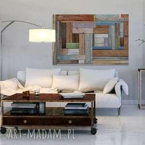 kolorowe obrazy deski obraz na płótnie - drewno
