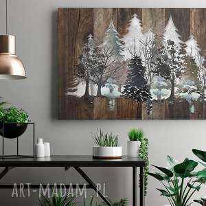 VAKU DSGN obraz na płótnie - drewno deski natura drzewa - 120x80 cm (82201)