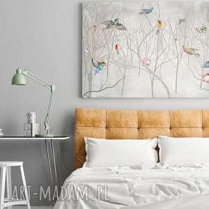 drzewa obraz na płótnie - ptaki