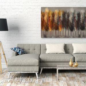 szare obrazy drzewa obraz na płótnie - las ogień