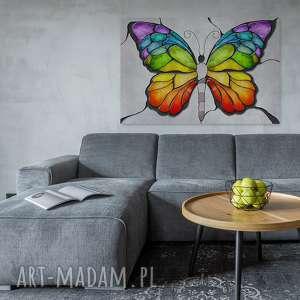 drzewo obraz na płótnie - motyl kolory