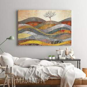 obrazy drzewo obraz na płótnie - wzgórze