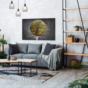 intrygujące drzewo obraz na płótnie - słońce