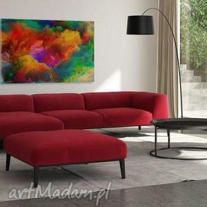 kolory obraz na płótnie - kolorowe chmury