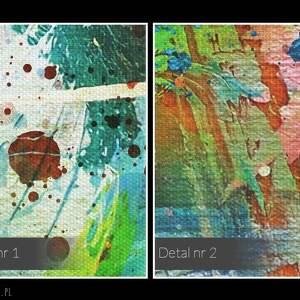 wyraziste kolorowy design: piękny obraz o nowoczesnym, niebanalnym