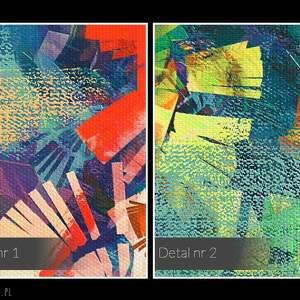 abstrakcja obraz na płótnie
