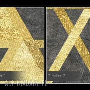 efektowne obrazy dekoracja obraz na płótnie - trójkąty