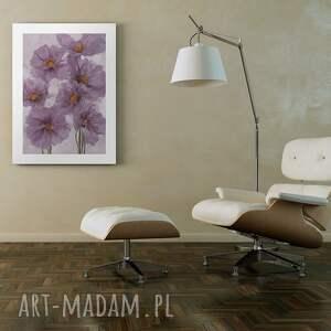 fioletowe obrazy kwiaty obraz na płótnie - fioletowy bukiet