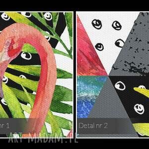 VAKU DSGN tropikalny obraz na płótnie - trójkąty