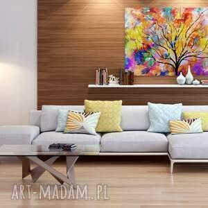 gałęzie obraz na płótnie - drzewo kolory