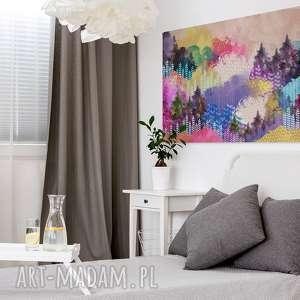 obrazy góry obraz na płótnie - kolorowy las
