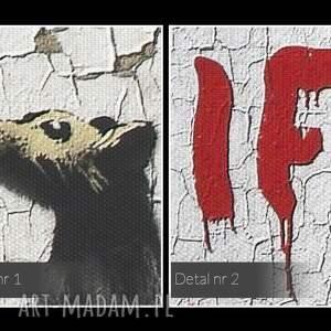 graffiti obraz na płótnie - banksy gryzoń