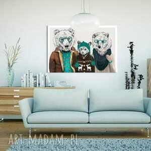 intrygujące obrazy grafika obraz na płótnie - 120x80cm rodzina