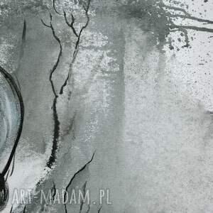 obrazy ręcznie malow turkusowe obraz na płótnie malowany