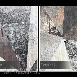 obraz na płótnie - beton trójkąty