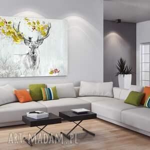 gustowne jeleń obraz na płótnie - 120x80cm