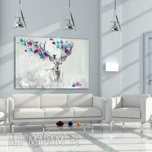 jeleń obraz na płótnie - 120x80cm