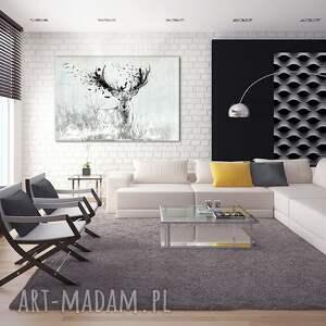 niepowtarzalne obrazy jeleń obraz na płótnie 120x80 -