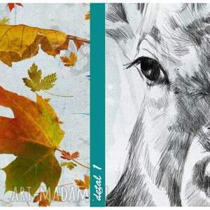 obraz na płótnie - 120x80cm jeleń