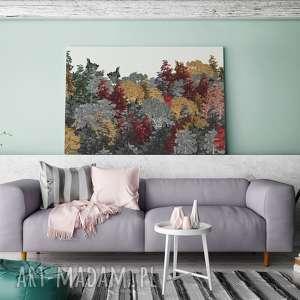 drzewa obrazy szare obraz na płótnie - jesień