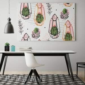 oryginalne kaktusy obraz na płótnie