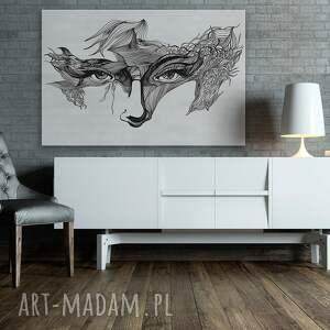 obraz na płótnie - oczy maska - 120x80 cm (21101) karnawal